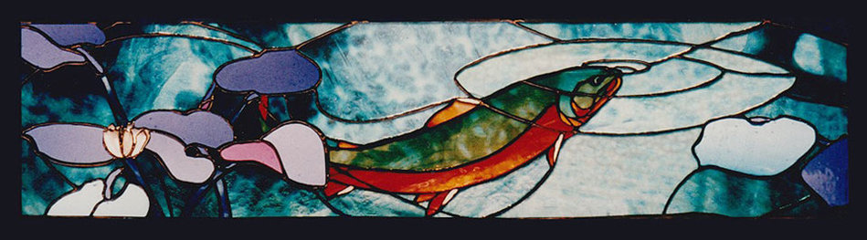 Chandler Thayer - Stained Glass Panel - Trout